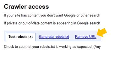 誤ったページをRemove URLで削除