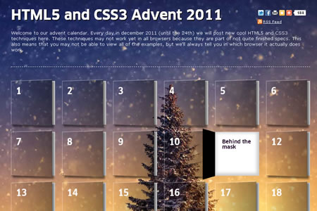 HTML5 and CSS3 Advent 2011