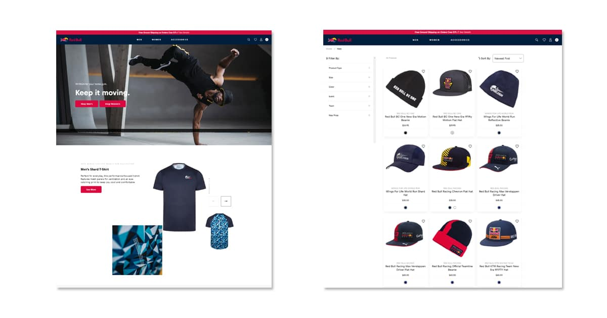Red Bull Shopifyサイト